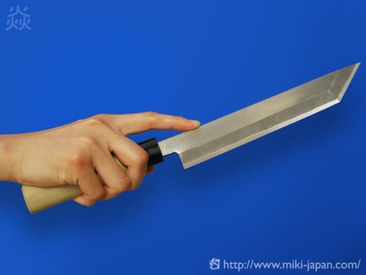 昭三作 手造り 関東型 ウナギ割り 磨き 165mm