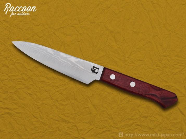 みきかじや村 Raccoon 万能ナイフ 両刃 120