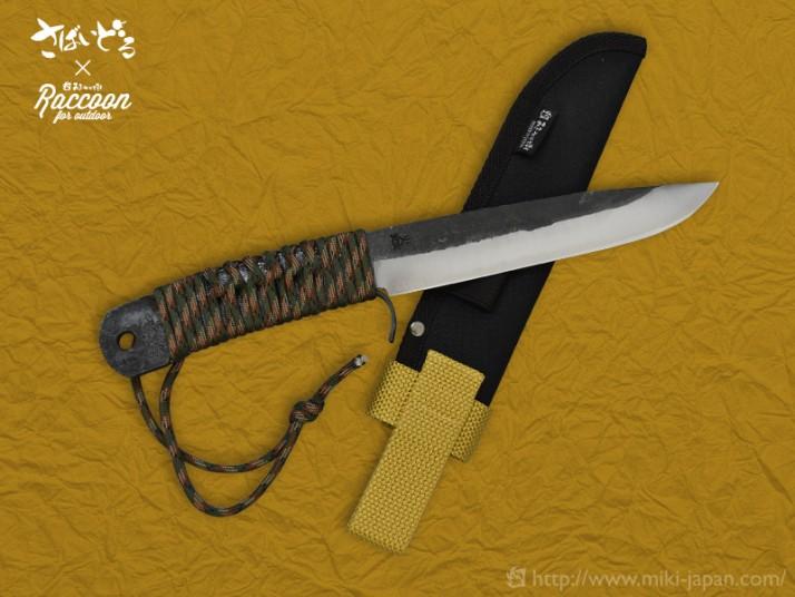 Raccoon バトニングナイフ 150さばいどるモデル(9月1日発売)
