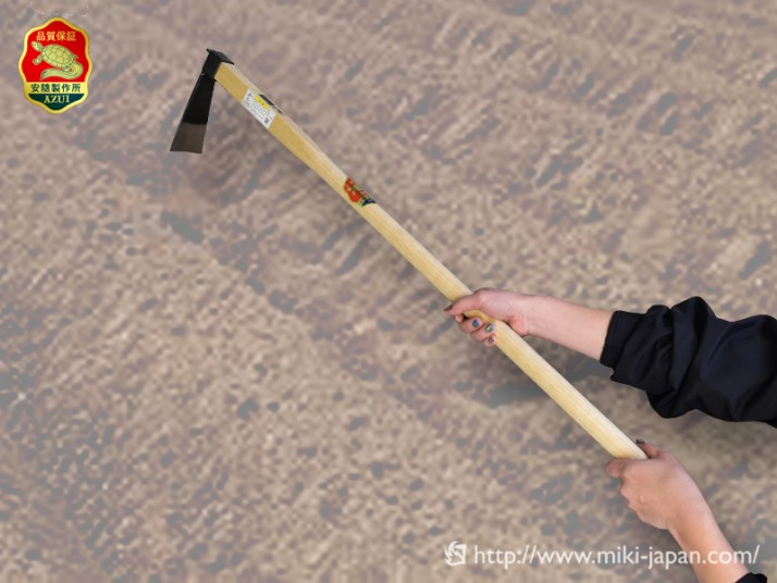 手打鍛造 中型鍬 丁能鍬 1050mm 椎柄付