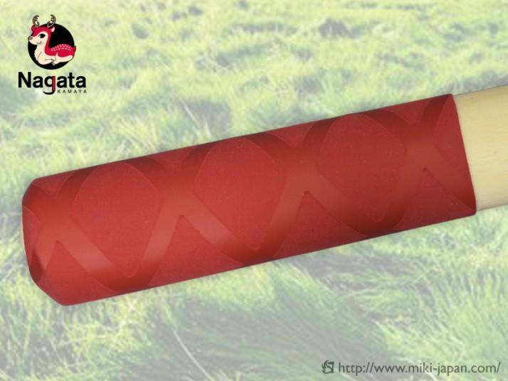 ね鹿 ステンレスB型鋸鎌 中目 赤グリップ