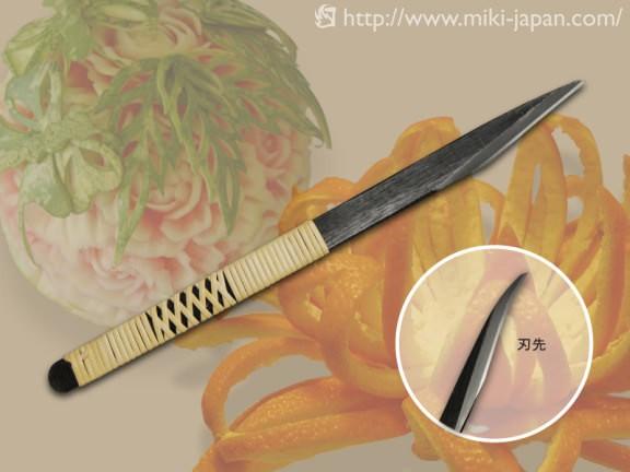 フルーツカービングナイフ 曲型 本藤巻 9mm