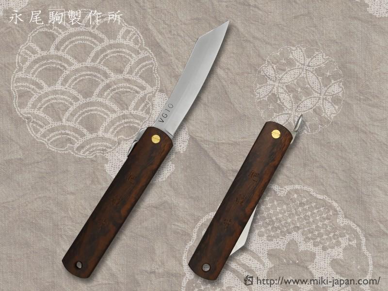 肥後守ナイフ VG10 アイアンウッド(大)