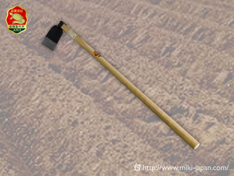 手打鍛造 中型鍬 巾広 1050mm 椎柄付