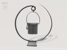 millio 鍛造フラワースタンドセット(ループ・3号鉢・アーム)