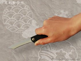 肥後守ナイフ 特別手作り鍛造 黒鞘