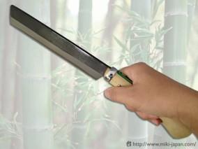 竹割鉈(レザーカバー付)180