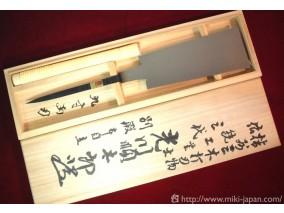 三代目 光川順太郎作 両刃鋸 使用本目立 八寸 桐箱入