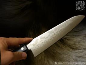 誠貴作V金10号積層鋼水牛柄 和剣型