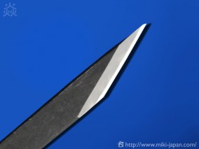 昭三作 手造り切出小刀 黒打 21mm
