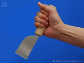 美貴久 皮断包丁 平刃 磨き 42mm