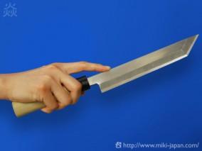 昭三作 手造り 関東型 ウナギ割り 磨き 150mm