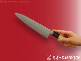 和牛刀(水牛八角柄)モリブデン鋼 210mm