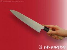 和牛刀(水牛八角柄)モリブデン鋼 240mm