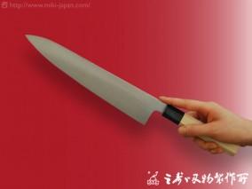 和牛刀(水牛八角柄)モリブデン鋼 270mm