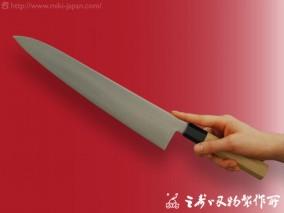 和牛刀(水牛八角柄)モリブデン鋼 300mm