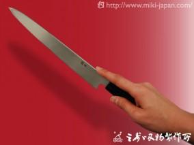 銀三 柳刃 漆 240mm