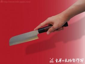 鎌型菜切V金漆 170mm