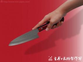 三徳 V金赤黒柄 170mm