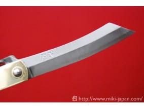 真鍮鞘割込ナイフ (大) レザーケース付