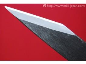伝統工芸 本鍛造 切出小刀 黒打仕上 24mm