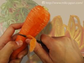 フルーツカービングナイフ 直型 本藤巻 12mm