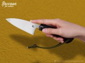 みきかじや村 Raccoon 小出刃ナイフ 片刃 105
