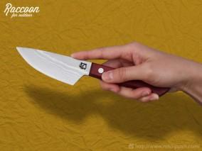 みきかじや村 Raccoon 小出刃ナイフ 両刃 105