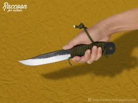 みきかじや村 Raccoon バトニングナイフ 120