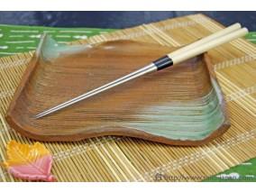 本焼ステンレス朴柄盛箸 135mm (袋入り)