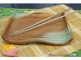 本焼ステンレス六角盛箸 180mm (袋入り)