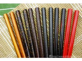 本焼ステンレス盛箸塗り柄 (朱) 150mm (箱入り)
