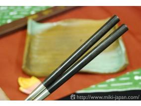 アフリカ本黒壇柄盛箸 180mm (桐箱入り)
