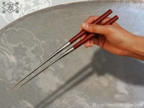 サティーネ柄盛箸 135mm (箱入り)
