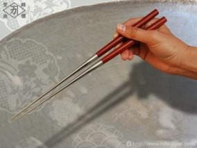 サティーネ柄盛箸 150mm (箱入り)