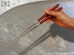 サティーネ柄盛箸 165mm (箱入り)