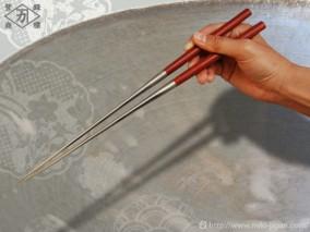サティーネ柄盛箸 180mm (箱入り)