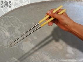 アマレロ柄盛箸 135mm (箱入り)