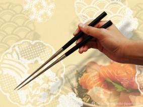 純チタン黒檀柄盛箸 135mm