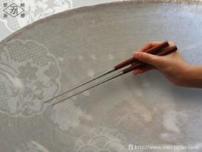 サティーネ六角柄盛箸 150mm(箱入り)