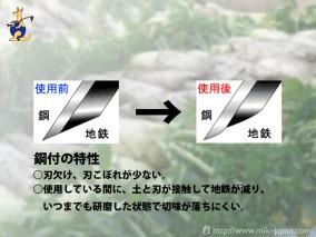 両刃鍬(ステンレス) 240mm