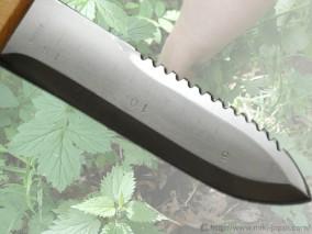 ステンレス山菜掘り 鋸刃 サック付