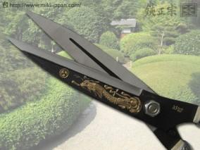 巴龍 龍彫(金粉入り) 青紙 195mm