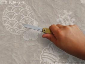 ZZ018 肥後守ナイフ 特別手作り鍛造 真鍮鞘