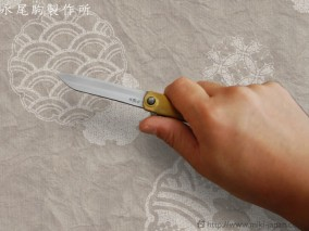 肥後守ナイフ 笹刃型 真鍮鞘