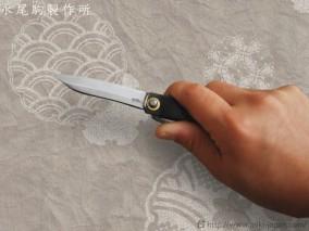 肥後守ナイフ 笹刃型 黒鞘