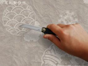 肥後守ナイフ 剣型 黒鞘