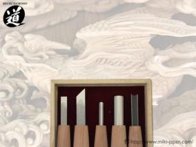5組内容 平刀6㍉印刀9㍉・丸刀3㍉・丸刀9㍉・三角6㍉