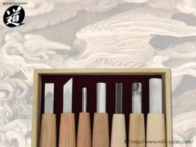 7組内容  平刀9㍉・印刀9㍉・丸刀3㍉・丸刀9㍉・三角6㍉ 丸スクイ9㍉・浅丸12㍉