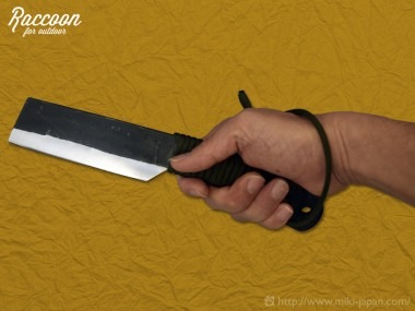 みきかじや村 Raccoon 鉈両刃 黒打 120 パラコード柄 4月発売